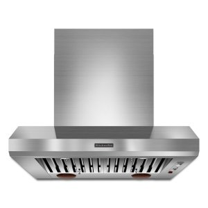 Kitchenaid36'' Wall-Mount 600-1200 CFM Canopy Hood, Commercial-Style Stainless Steel