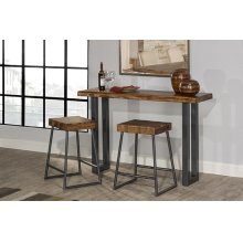 Emerson Sofa Table and (2) Non-swivel Counter Stools