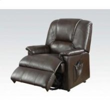 Bwn Pu Recliner W/lift,massage