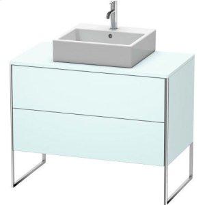 Vanity Unit For Console Floorstanding, Light Blue Matt Decor