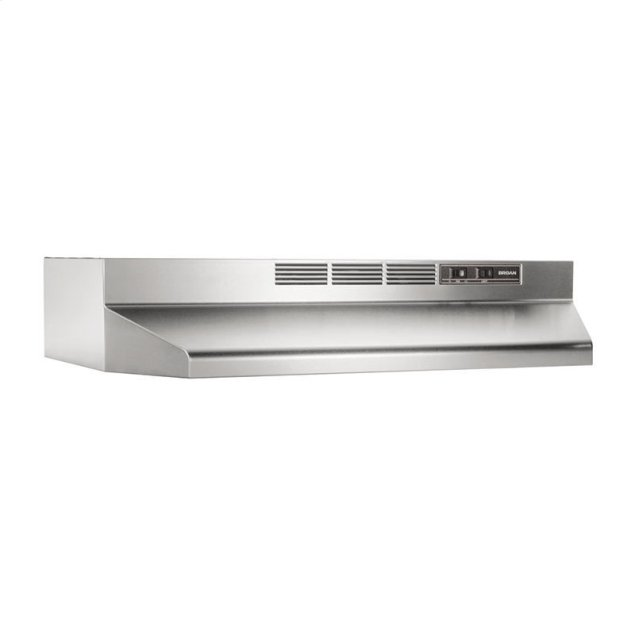 """Broan 30"""" Ductless Under-Cabinet Range Hood with Light in Stainless Steel"""