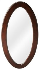 Cherry finish over cherry veneers and wood products frame. This wall mirror is a fine reflection on you. Ideal for hallway or boudoir, try it in pairs on a long wall. Perfect! Product Image