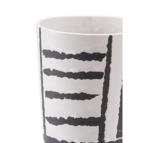 Croma Sm Vase Black & White