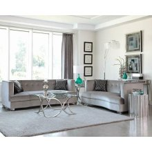 Caldwell Silver Two-piece Living Room Set