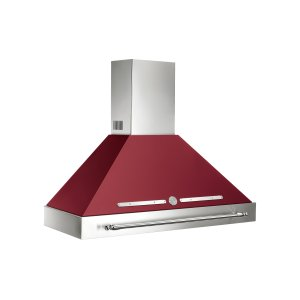 Bertazzoni48 Wallmount Canopy and Base Hood, 1 motor 600 CFM Matt Burgundy