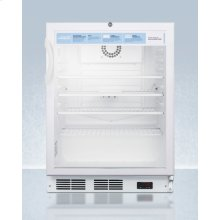 """24"""" Wide ADA Height Auto Defrost Commercial All-refrigerator With Lock, Digital Thermostat, Internal Fan, and Access Port for User-provided Monitoring Equipment"""