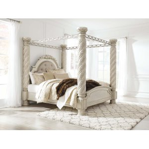 Ashley Furniture Cassimore - Pearl Silver 5 Piece Bed Set (King)