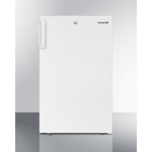 """SummitCommercially Listed ADA Compliant 20"""" Wide Built-in Undercounter All-freezer, -20 C Capable With A Lock and White Finish"""