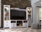 Willowton - White Wash 4 Piece Entertainment Set Product Image