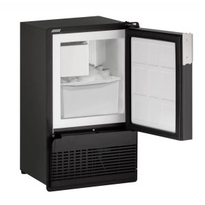 "U-LineMarine Series 14"" Marine Crescent Ice Maker With Black Solid Finish and Field Reversible Door Swing (115 Volts / 60 Hz)"
