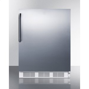 SummitBuilt-in Undercounter Refrigerator-freezer for General Purpose Use, With Dual Evaporator Cooling, Cycle Defrost, Ss Door, Towel Bar Handle and White Cabinet