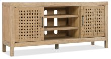 Home Entertainment Wabi Sabi 64in Woven Door Entertainment Console