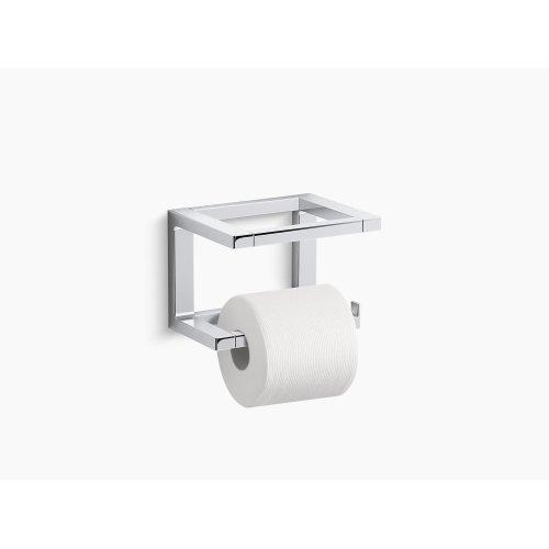 Polished Chrome Toilet Tissue Holder