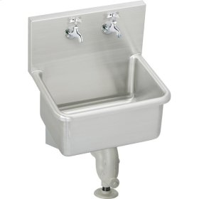 """Elkay Stainless Steel 23"""" x 18-1/2"""" x 12, Wall Hung Service Sink Kit"""