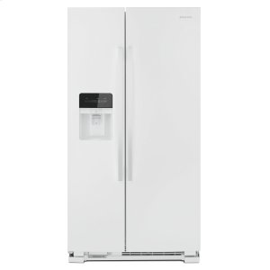 36-inch Side-by-Side Refrigerator with Dual Pad External Ice and Water Dispenser White - WHITE