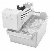 Refrigerator Ice Maker Assembly - White