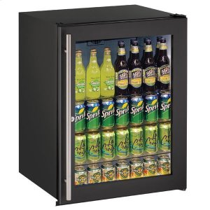 "U-Line24"" Refrigerator With Black Frame Finish (115 V/60 Hz Volts /60 Hz Hz)"
