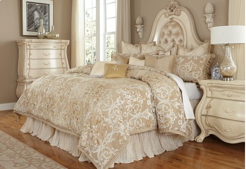 13 Pc.King Comforter Set Creme