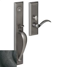 Distressed Oil-Rubbed Bronze Cody Full Escutcheon Trim