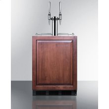 Built-in Undercounter ADA Height Commercially Listed Dual Tap Nitro Coffee Dispenser With Panel-ready Door and Black Cabinet