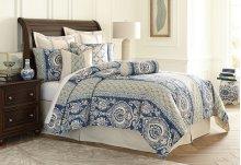 9pc Queen Comforter Set Cadet