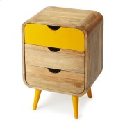 This Mid-Century-inspired chairside chest will stylishly enhance your space. Featuring a modern loft aesthetic, it is hand crafted from mango wood solids, mdf. Product Image