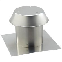 "8"", Roof Cap, For Flat Roof, Aluminum"