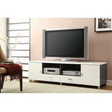 Contemporary White TV Console