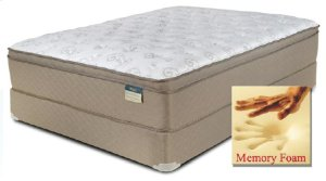 "ONYX LABEL - Comfortec - Chateau - Memory Foam - 15"" Euro Box Top - Full XL"