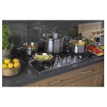 """GE Profile 30"""" Built-In Gas Cooktop with 5 Burners and Optional Extra-Large Cast Iron Griddle"""