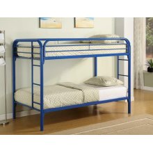 Morgan Twin-over-twin Blue Bunk Bed