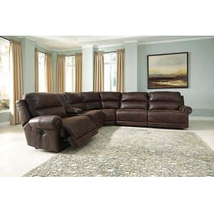 Ashley Furniture Luttrell - Espresso 7 Piece Sectional
