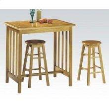 3pc Breakfast Set Oak/ter Tile