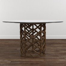 "Custom Dining 60"" Glass Table w/Bali Base"