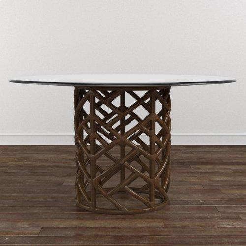 "Custom Dining 54"" Glass Table w/Bali Base"
