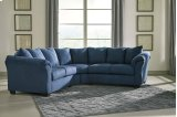 Darcy - Blue 2 Piece Sectional Product Image