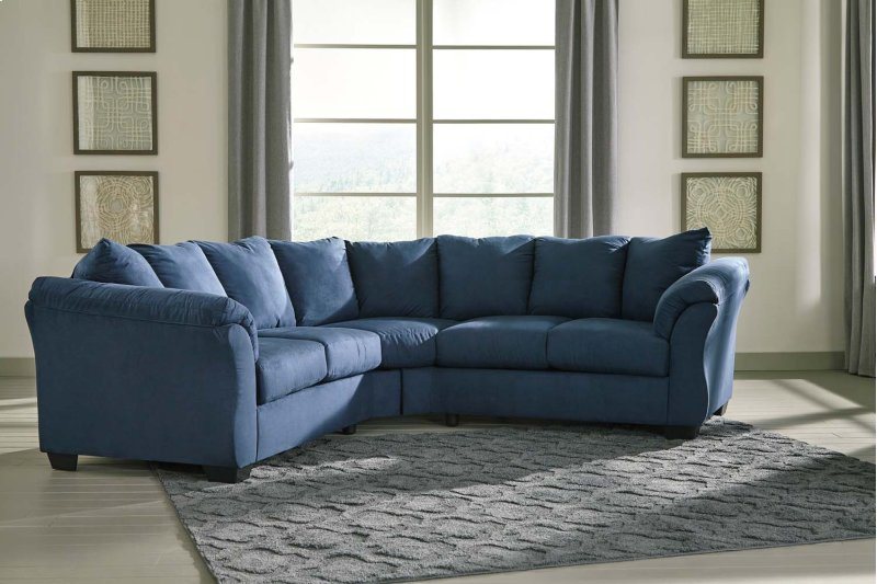 Incredible Darcy Blue 2 Piece Sectional Gmtry Best Dining Table And Chair Ideas Images Gmtryco