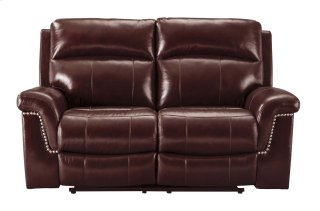 Power Reclining Loveseat with Power Headrest - Leather
