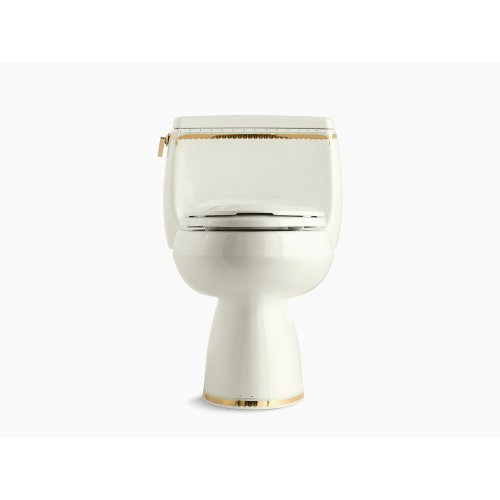 Prairie Flowers Comfort Height One-piece Elongated 1.28 Gpf Toilet With Class Five Flush Technology and Left-hand Trip Lever