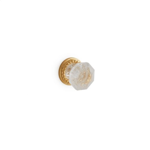 Antique Gold Rock Crystal Diamond Cabinet and Drawer Knob - Small