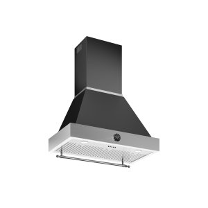 36 Wallmount Canopy and Base Hood, 1 motor 600 CFM Matt Black - MATT BLACK