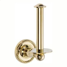 Polished Brass Spare Toilet Tissue Holder
