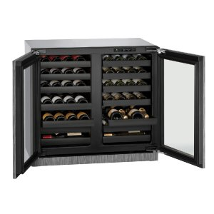 "U-LineModular 3000 Series 36"" Wine Captain(r) Model With Integrated Frame Finish and Double Doors Door Swing (115 Volts / 60 Hz)"