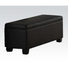Black Pu Storage Bench