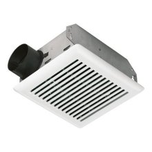 50 CFM Bath Ventilation Fan with White Grille