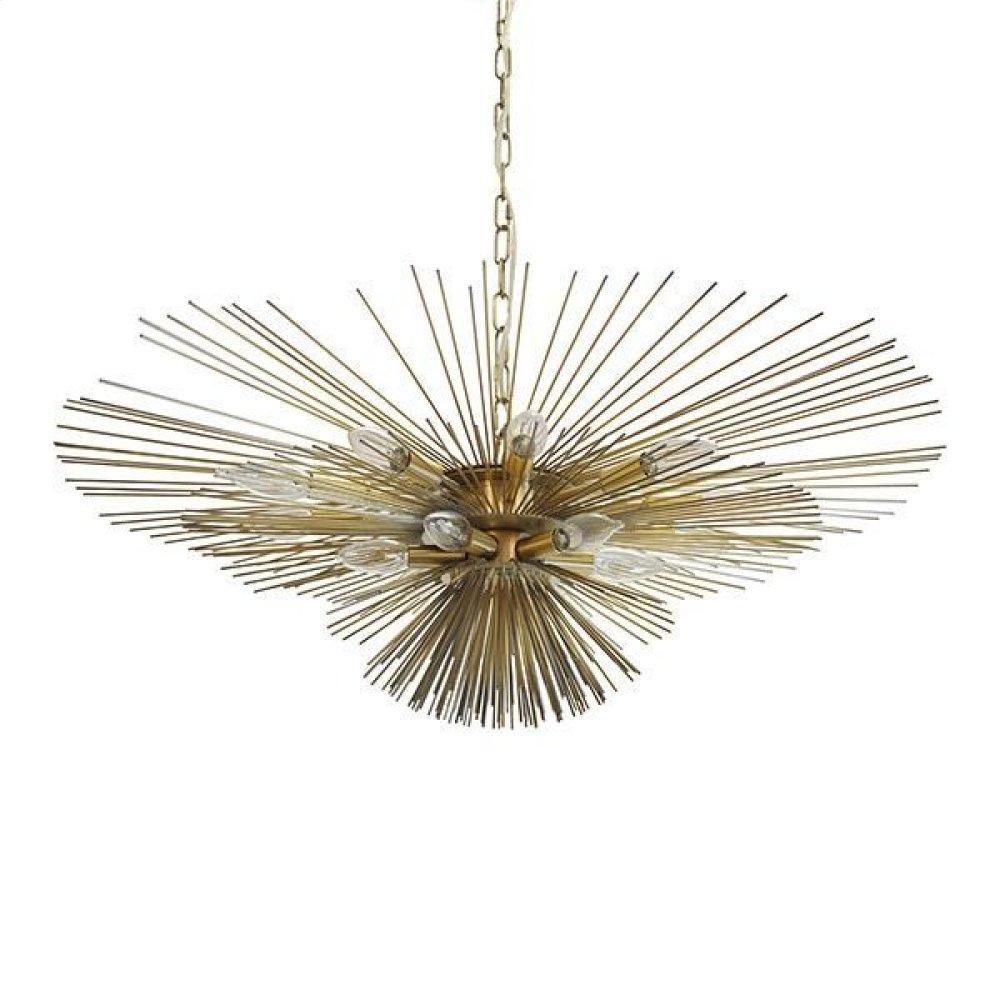 Urchin Chandelier In Antique Brass