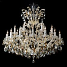 La Scala 25 Light Chandelier Cognac