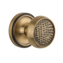 Nostalgic - Single Dummy Knob - Classic Rosette with Craftsman Knob in Antique Brass