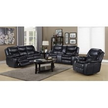 Emerson Black 3PCS Living room Set