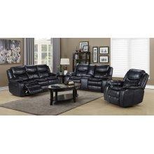 Emerson Black 3PCS Living room Set